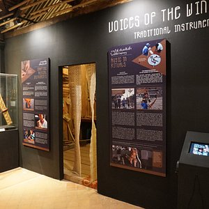 """Special Exhibition """"Voices of the Wind: Traditional Instruments in Laos""""."""