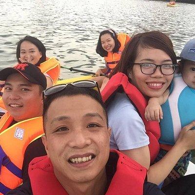 Kayaking on Nhat Le River