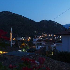 A nighttime view of Berat.