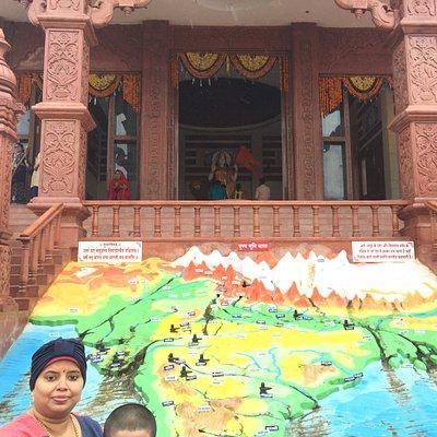 at the Bharat Mata Mandir