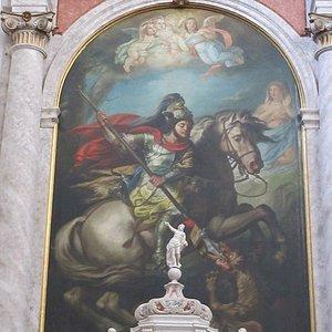 """Il """"Trionfo di San Giorgio"""" di Valentino Marani di Chiarisacco,"""