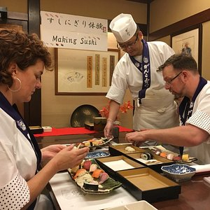 How to make a real sushi. You can have a lesson from the Sushi chef directly.