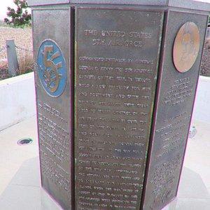 The memorial close up