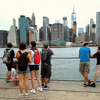 Amazing view of lower Manhattan from Brooklyn