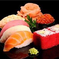 Un'elegante bouquet di sushi