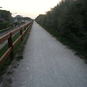 Il sentiero ciclabile