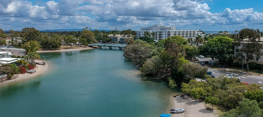 Drove View of the Noosa River from the Lions Park near Hastings St