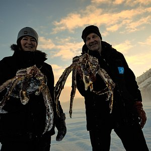 Happy guides presenting some of the day's catch