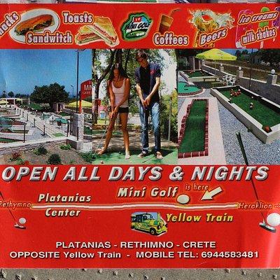 Le flyer de Mini Golf Beach
