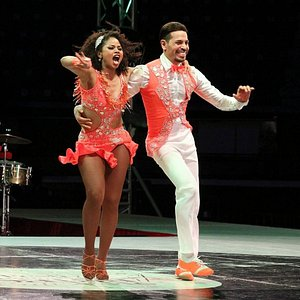 Lucia and Carlos, final stage of the Festival Mundial of Cali, 2017