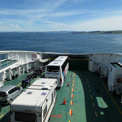 Bus between Bergen and Stavanger on Ferry.