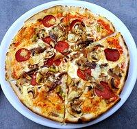 Die leckere Pizza
