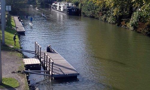 Une partie du canal