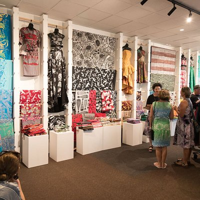 Amazing display of hand printed Indigenous fabric