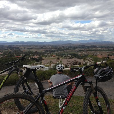 Pedal to the Medal Cycling customer enjoying Temecula's great views