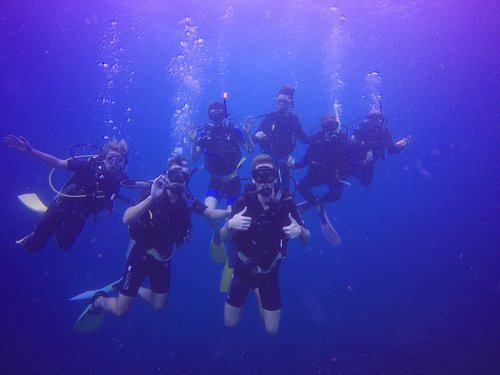 Exchange vStudents from Singapore enjoying a dive
