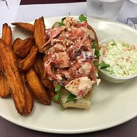 Lobster roll and sweat potato fries