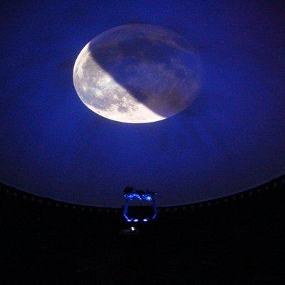 La Luna vista all'interno del Planetario