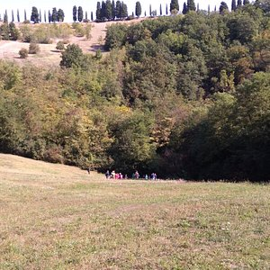 """Climbing up from the bottom of the big doline, towards the """"Il Casetto"""" so called point.."""