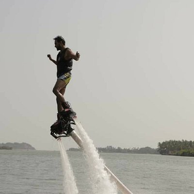 Flyboarding is one of the most exciting adventure sports in goa