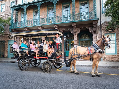 Featured with our carriage is the Historic Dock Street Theater