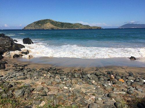 Vista praia fofa