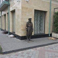 """Скульптура """"Дворник на Шавтели"""""""