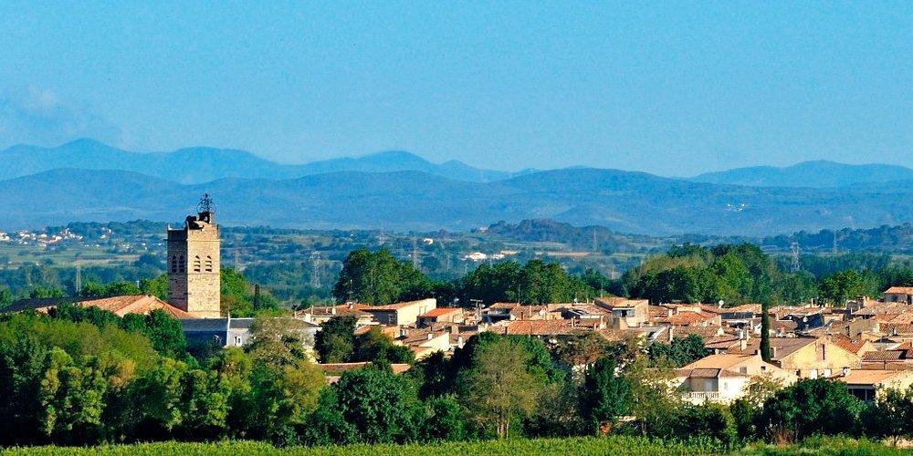 Florensac - vue du village Photo par Philippe Lagarde