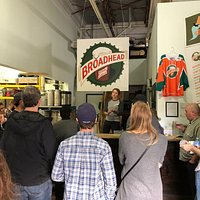 Natasha telling us the story of Broadhead Brewery