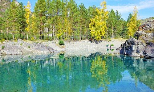 Вид на одно из Голубых озер