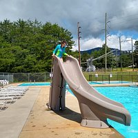 My daughter is in love with this slide. The pool is a lot of fun. Great people.