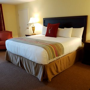 Bed area in the King Junior Suite.