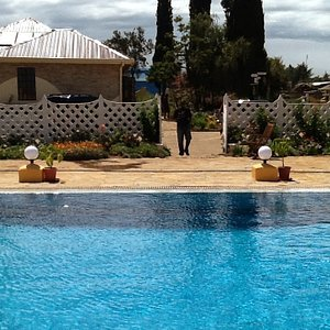 The pool is very clean and very well maintained, Occasionally British Army come to play water ba