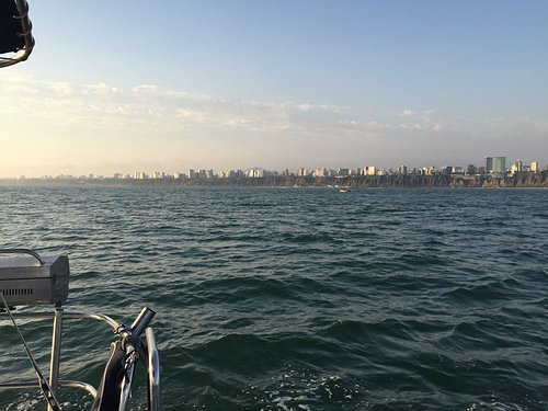 An incredible view of Lima, only from the sea !
