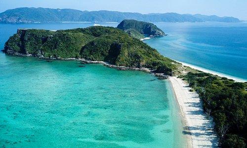 view of Touma beach frmo drone