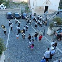 Processione di San Rocco durante il passaggio dalla chiesa di Sant'Antonio