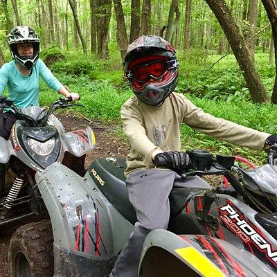 ATV ride through the woods
