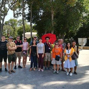Group Photo on Baku Original Walking Free Tour