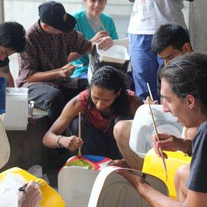 Prime community preparing El Cedezo community garden in Santo Domingo