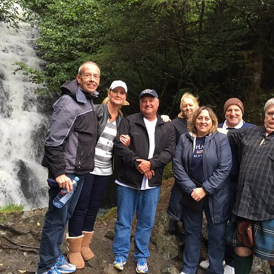 Our group at the waterfall
