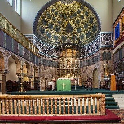 Die Newman University Church im neobyzantinischen Stil - ein Hingucker