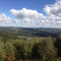 Widok z platformy na Jedlinę