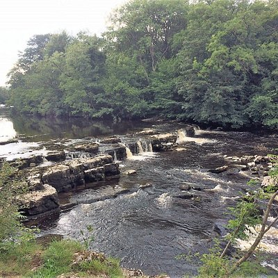 Redmire Force (from the south bank of thr River Ur).