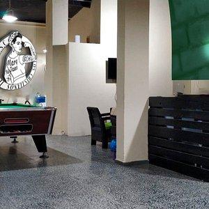 sala de estar billar