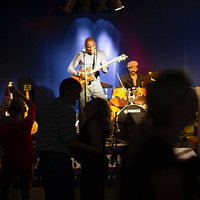 Cedric Burnside and Brian Jay playing 100 Men Hall - photo by Marc Pagani