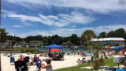 strandje in Hunter Springs Park