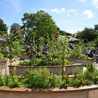 I Tivoliparken ligger det en hälsoträdgård
