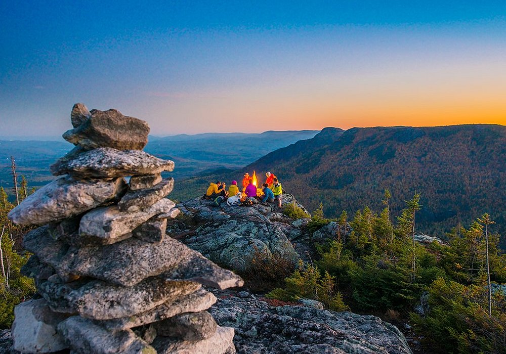 Hike with a beautiful sunset,Parc national des Hautes-Gorges-de-la-Rivière-Malbaie