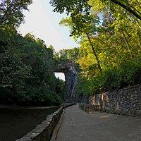 The view from Cedar Creek Cafe at Natural Bridge, Virginia