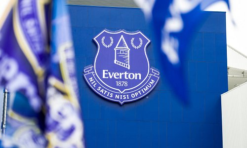 Everton Crest on Goodison Park